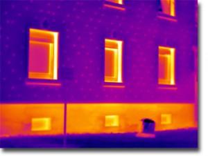Thermografiebild: Befestigung des WDVS