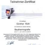 Zertifikat: Testo Operatorschulung Bauthermografie