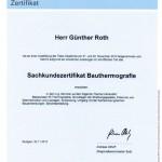 Zertifikat: TÜV Sachkunde Bauthermografie